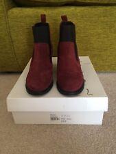 Gorgeous Topshop Moon Burgundy Black Boots Shoes Size 4