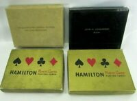 Advertising Double Deck Playing Card Sets 1950s Vintage Lot (4) Original Cases