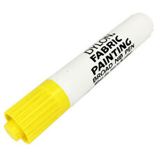 Dylon Tela Pintura Marcador Bolígrafo Amplia Consejo para ropa de tela de color amarillo Nuevo en Caja