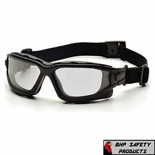PYRAMEX I-FORCE SLIM CLEAR ANTI-FOG SAFETY GLASSES GOGGLES DUAL PANE SB7010SDNT
