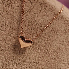 Fashion 925 Silver Plated Women Heart Pendant Necklace Chain Jewelry