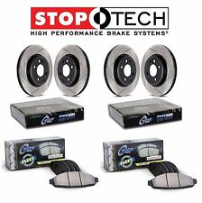 For Toyota Tundra Front & Rear StopTech Slotted Brake Rotors Fleet Pads Kit
