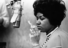 "Reproduction Aretha Franklin Poster, ""Smoking"", Home Wall Art, Vintage Print"