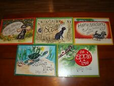 5 BOOKS BY LYNLEY DODD -  3 HAIRY MACLARY - SMALLEST TURTLE - APPLE TREE - 1980s