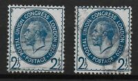 SG437.  PUC 2&1/2d.Blue. 2 Fine Used Examples. Good Condition.  Ref:07172