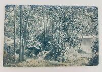 Postcard Lake Minansin Woods Bridge Pocono Manor Pennsylvania