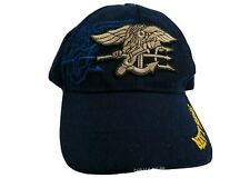 Us Navy Seals Snap Back Hat Baseball Cap Embroidered Logo Adjustable