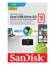 SanDisk 16GB OTG Dual Ultra USB 3.0 Micro Flash Thumb Drive Memory SDDD2-016G