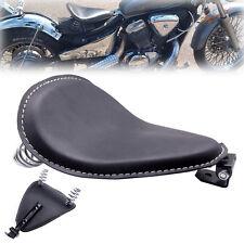 "Leather Motorcycle 3"" Spring Solo Bracket Seat For Harley Chopper Bobber Custom"