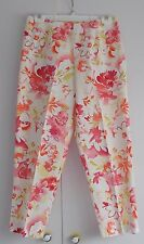 WOMEN'S REAL CLOTHES SAKS FIFTH AVE FLORAL PANTS W/SIDE ZIPPER & SIDE SLITS SZ 2