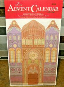 Vintage Sealed Hallmark Advent Calendar Christmas Cathedral Countdown Religious