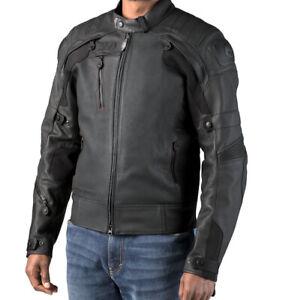 Harley Davidson Mens FXRG Gratify Coolcore Leather Jacket Black 98051-19EM