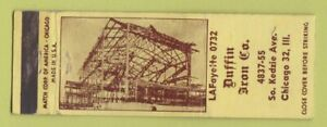 Matchbook Cover - Duffin Iron Chicago IL WEAR