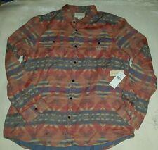 Polo Ralph Lauren Denim Supply SouthWestern Aztec RRL Long Sleeves Shirt Red XXL