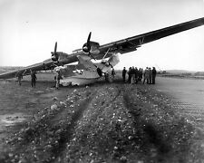 WW2 Photo WWII PBY Runway Crash Aleutian Islands  World War Two /5193