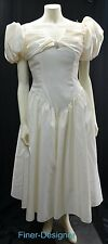 Jordan bridal wedding Dress short gown cream vintage 80 bride S/S Size 9 10 NEW