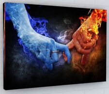 ABSTRACT HANDS OF LOVE CANVAS PICTURE PRINT WALL ART CHUNKY FRAME LARGE 400-2