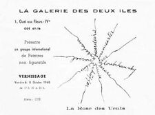 CAMILLE BRYEN Peintre NON-FIGURATIF Poésie Invitation Sauer Bandeira Gear 1948