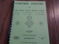 U.S MILITARY UNIFORM INSIGNIA REFERENCE BOOK BADGES RANK AND WINGS