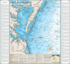Virginia Shipwreck Chart - Great Nautical Art Print Map