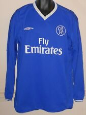 Chelsea  Long Sleeves Home Shirt 2003-2005 xl men's #933