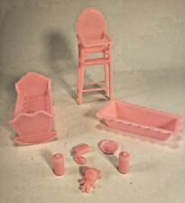 Sunshine Family Pink Nursery Furniture with bottles bear crib high chair etc