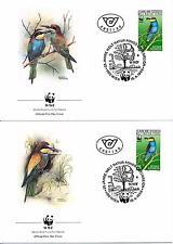[53585] Austria 1988 Birds Vögel Oiseaux Ucelli WWF FDC 2 covers