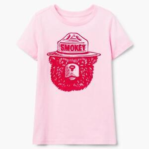 NWT Gymboree Smokey Bear Tee Shirt Top Girls Pink M