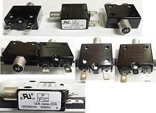 (Lot of 35pcs) New Blue Sea Push Button Reset, Quick Connect 20A Circuit Breaker