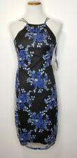 LAUNDRY by Shelli Segal Ultramarine Beaded Floral Dress Spaghetti Strap Size 2