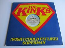 """THE KINKS Wish I Could Fly Like Superman/Low Budget VINYL 12"""" Promo Only 1979"""