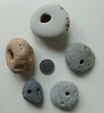 5 x Natural Hag Stones Wish Wicca Holy Stone Mainly Sandstone Beach