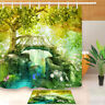 River Scenic Fairy Tale Tree Shower Curtain Liner Waterpoof Fabric Bathroom Mat