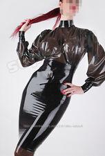 100% Latex Gummi Kleid Dress Gothik Goth Uniform Catsuit Ganzanzug Zentai Kostüm