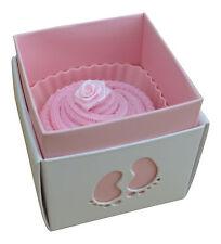 Baby Shower Strawberry sock cupcake - Baby girl pink 0-12 Mths new baby gift
