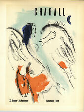1959 Mini Poster Marc Chagall Lithograph Kunsthalle Berne ORIGINAL Print