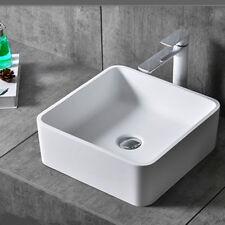 UK Modern New Modern Square Table Top Wash Basin Designs Lav Cloakroom Sinks