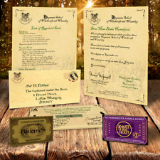 BRAND NEW AND PERSONALISED HARRY POTTER HOGWARTS ACCEPTANCE LETTER & ENVELOPE