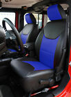 Jeep Wrangler Jk 2013-2018 4doors Blackblue S.leather Frontrear Seat Covers