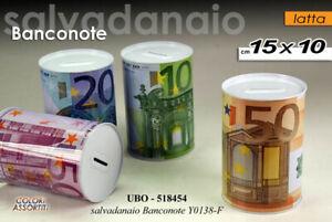 SALVADANAIO IN LATTA DECORO BANCONOTE € 15*10 CM VARI DECORI UBO-518454