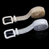 Women Shiny Belt Waist Chain Crystal  Waistband Rhinestone Luxury FashionIDE