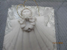 "Margaret Furlong 3"" Angel Ornament with wreath in orig. box 1988"