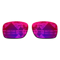 Polarized Purple Red Mirrored Replacement Lenses for-Oakley Holbrook Sunglasses