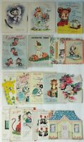 Greeting Cards Hallmark, Rust Craft & More 1950's Lot of 18 Pop-Ups & More