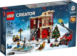 LEGO LA CASERMA DEI POMPIERI DEL VILLAGGIO INVERNALE CREATOR 10263 -nuovo-italia