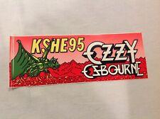 Vintage  KSHE 95 Radio Real Rock Radio Bumper Sticker St. Louis Ozzy Ozbourne
