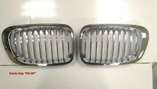 MIT CHROMED FRONT & SILVER REAR GRILLE BMW E46 2D 3 SERIES 1999-2002