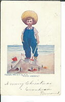 AX-125- Young America, by Bernhardt Wall, 1907-1915 Golden Age Postcard Vintage