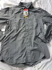 NWT The North Face Mens L/S Tek Hike Shirt Zinc Gray Sz Small $65