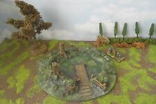 28MM - (PAINTED) Fantasy Woodland Pool Wargames terrain.
